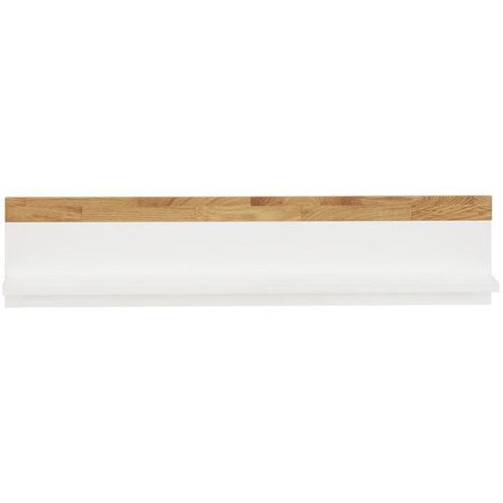 Jimmylee Wandboard Holz Eiche massiv Weiß, Braun , 90x20x17 cm