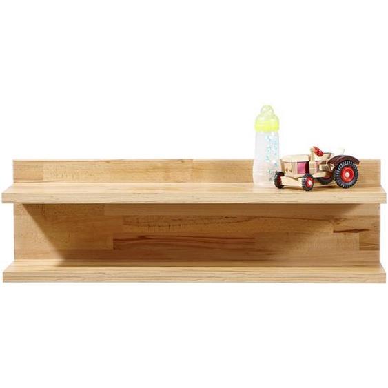 Jimmylee Wandboard Holz Kernbuche massiv Braun , 90x28x21 cm
