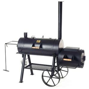 Joes BBQ 16 Reverse Flow Smoker 195x85x180cm Stahl Schwarz
