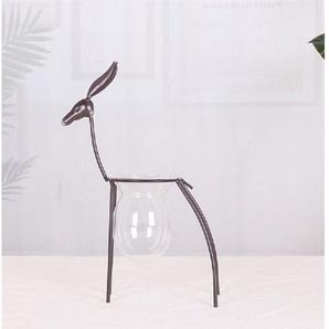 JOKA international Dekovase »Dekorative Vase Metall als Hirsch Größe M«