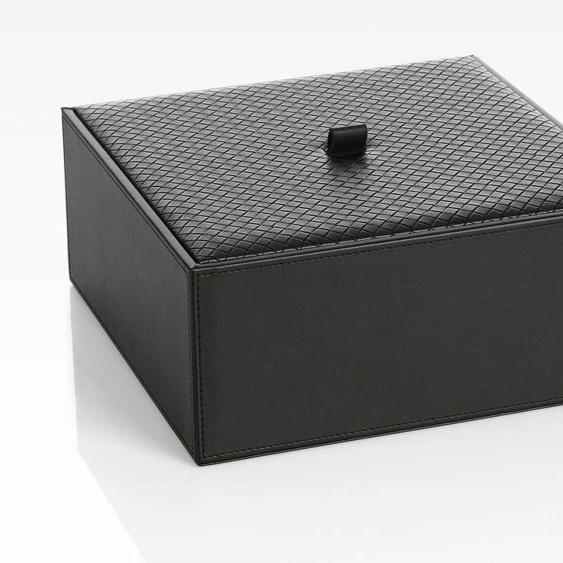 Joop Aufbewahrungsbox (B/T/H): 25,5/25,5/10,5 cm, 25,5x25,5x10,5 cm schwarz Boxen Truhen, Kisten Körbe Schlafzimmer Aufbewahrungsboxen