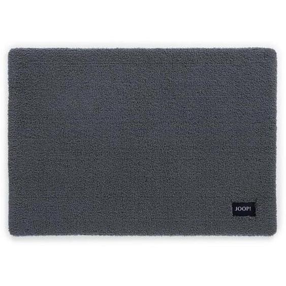 Joop! Badteppich Grau 50/60 cm , Textil , Uni , 50 cm