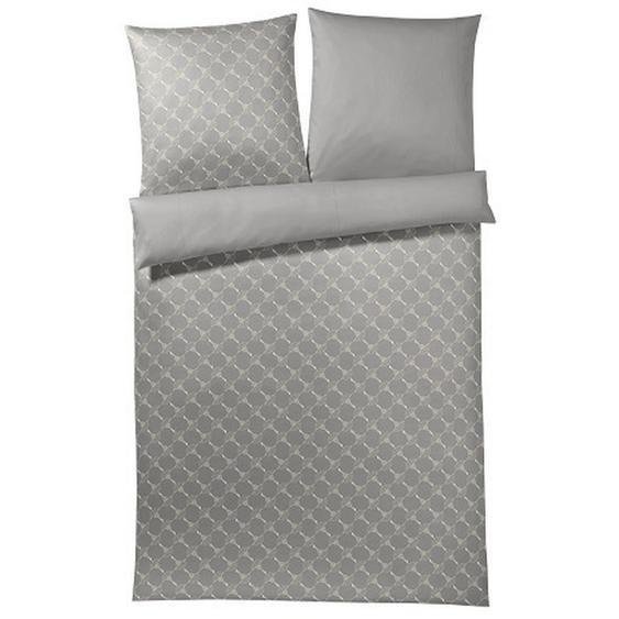 Joop! Bettwäsche Makosatin Beige , Textil , Blume , 155x220 cm