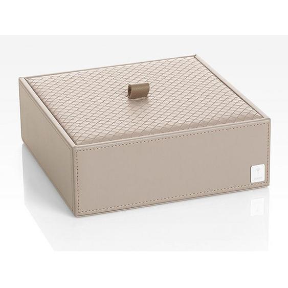 Joop! BOX MIT Deckel , Grau , Kunststoff , 20.5x7.5x20.5 cm