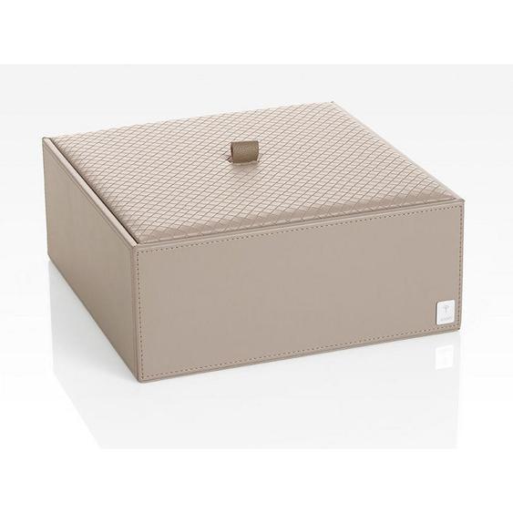 Joop! BOX MIT Deckel , Grau , Kunststoff , 25x9.5x25 cm