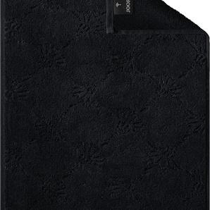 Joop Gästehandtücher JOOP UNI-CORNFLOWER, (3 St.), mit Kornblumen-Muster B/L: 30 cm x 50 St.) schwarz Handtücher Badetücher