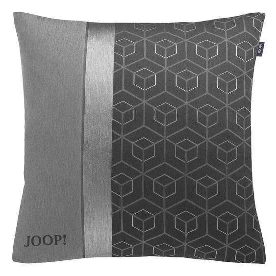 Joop! Kissenhülle Grau, Grau 50/50 cm , Textil , Graphik , 50x50 cm