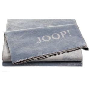 JOOP! Kuscheldecke, Taubenblau, Mischgewebe 150 x 200 cm