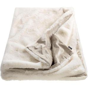 Joop! Plaid »Smooth«, 130x170 cm, weiß