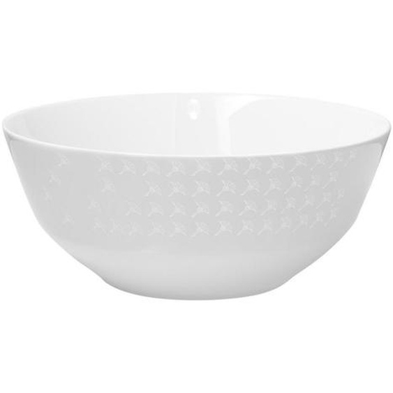 Joop! Schale Keramik Porzellan , Weiß , Blume , 9.5 cm