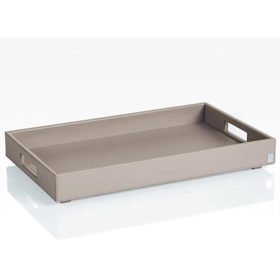 Joop! Tablett Kunststoff , Grau , Kunstleder , 52x6 cm