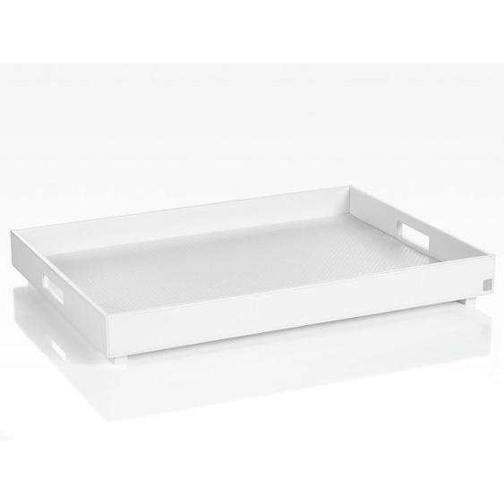 Joop! Tablett Kunststoff , Weiß , Kunstleder , 66x6 cm