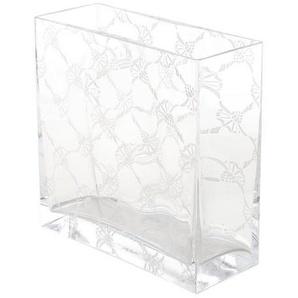 Joop! Vase Allover , Transparent , Glas , rechteckig , 20x20x8 cm , Dekoration, Vasen