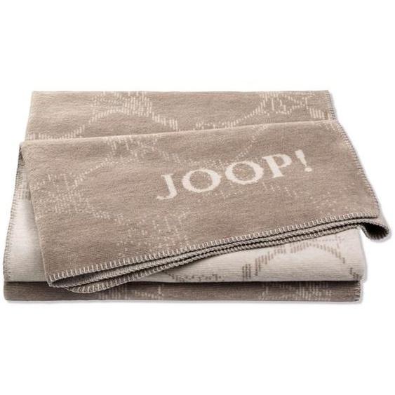 Joop! Wohndecke 150/200 cm Beige, Greige , Textil , Blume , 150 cm