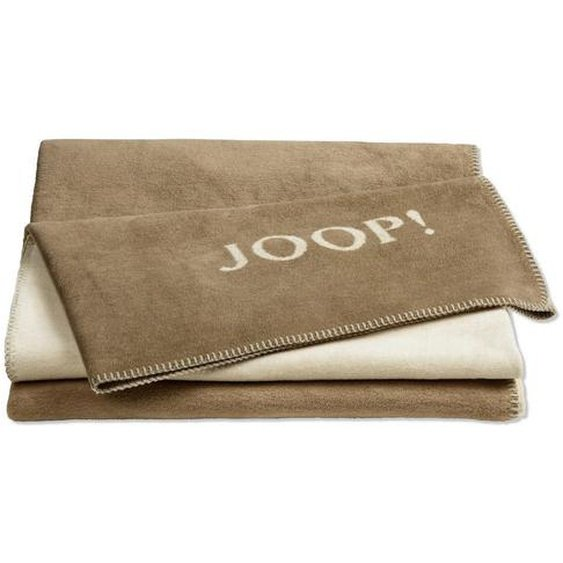Joop! Wohndecke Braun , Natur, Grau , Textil , Uni , 78x51x5 cm
