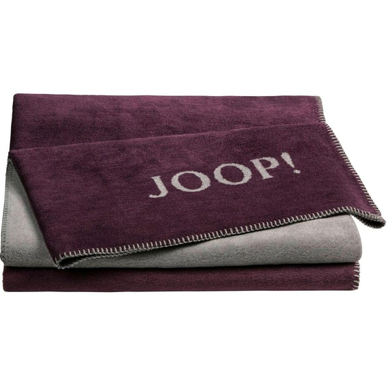 Joop Wohndecke Doubleface, in zweifarbigen Design B/L: 150 cm x 200 rot Kuscheldecken Decken