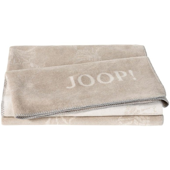 JOOP! Wohndecke  Joop!Cornflower Double - braun - 58% Baumwolle, 35% Polyacryl, 7% Polyester   Möbel Kraft