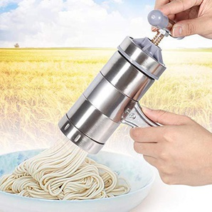 JoyFan Edelstahl Pasta Nudel Maker Presse Spaghetti Maschine Küchenwerkzeug 18.5 * 14 * 9cm silber