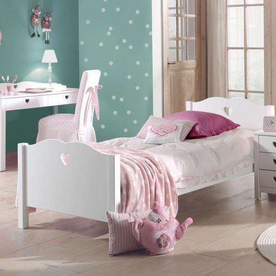 Jugendbett Asami, weiß, 90x200 cm, ohne Nachttisch