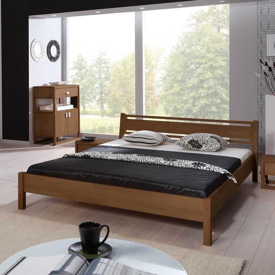 Jugendbett aus Buche Massivholz modern