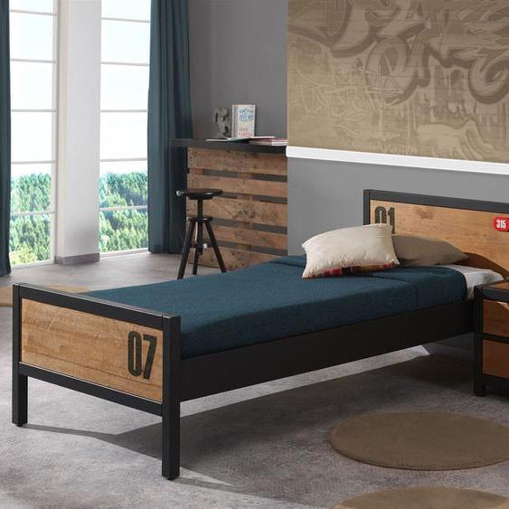 Jugendbett Beli, Kiefer braun, ohne Nachttisch