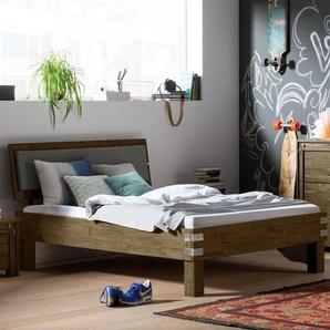 Cooles Einzelbett Felipe - 120x200 cm - Akazie braun