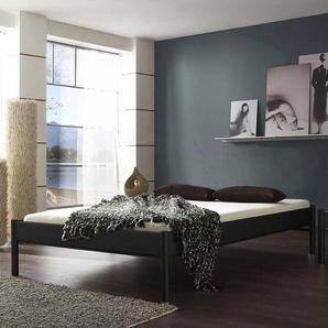 Jugendbett in Schwarz Eisen ohne Kopfteil