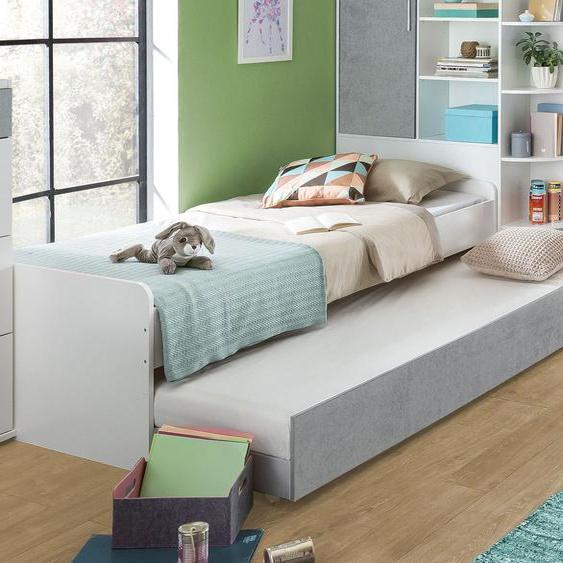Jugendbett Porvenir, weiß, 90x200 cm, ohne Bettschublade