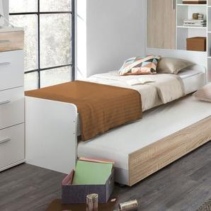 Jugendbett Solero, weiß, 90x200 cm, ohne Bettschublade