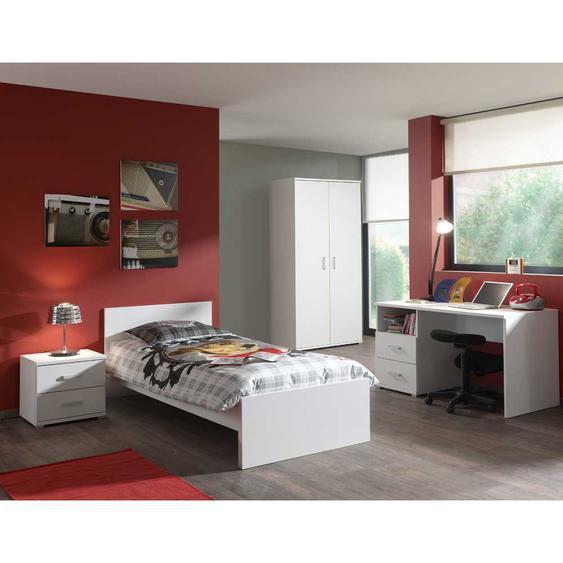 Jugendzimmer Einrichtung in Weiß komplett (4-teilig)