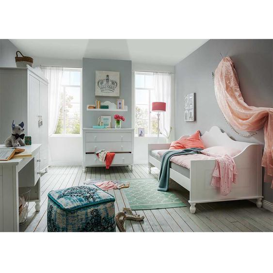 Jugendzimmer in Weiß Sofabett (5-teilig)