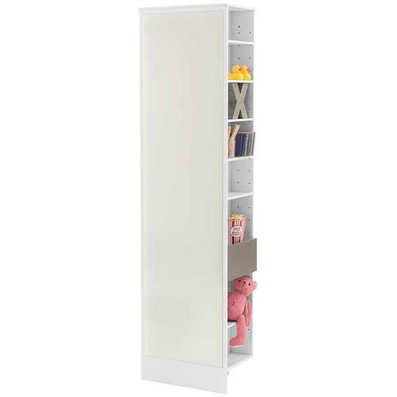 Jugendzimmer Regal mit Spiegel Weiß Taupe