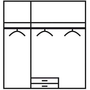Jugendzimmer-Set , weiß, Kleiderschrank 3-türig, »Point«, Rauch