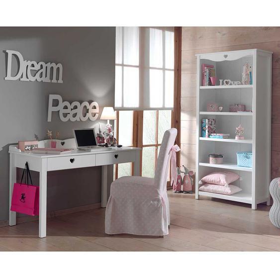 Jugendzimmermöbel in Weiß Herzen (2-teilig)