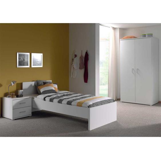 Jugendzimmermöbel in Weiß modern (3-teilig)