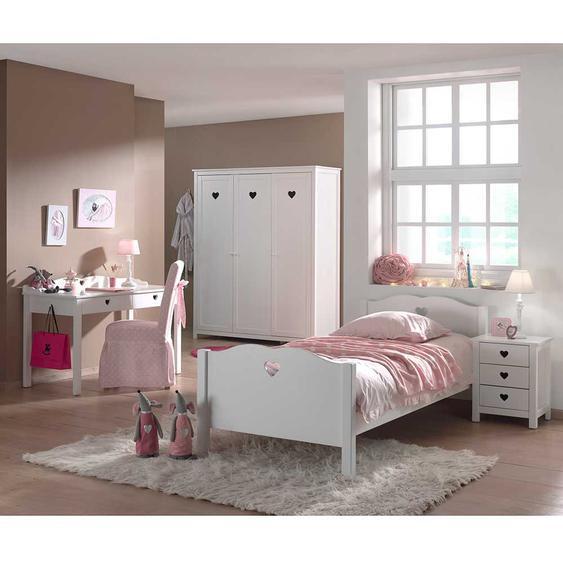 Jugendzimmermöbel Set für Mädchen Weiß (4-teilig)