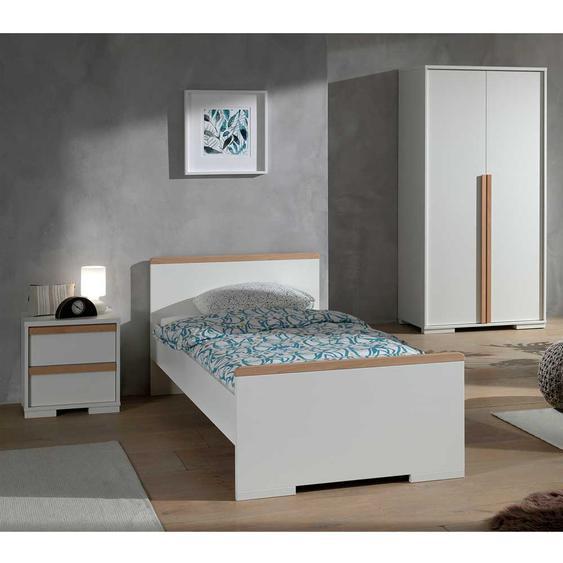 Jugendzimmermöbel Set in Weiß und Buche modern (3-teilig)
