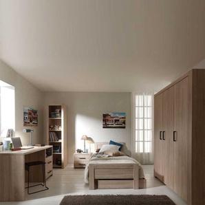 Jugendzimmerm�bel Kombination in Eiche Dekor modern (6-teilig)