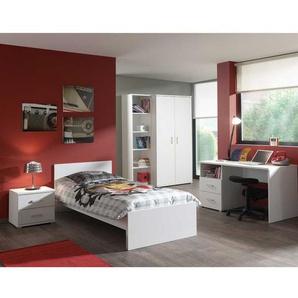 Jugendzimmerm�bel Set komplett Wei� (5-teilig)