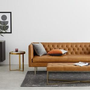 Julianne 3-Sitzer Sofa, Premiumleder in Sienabraun