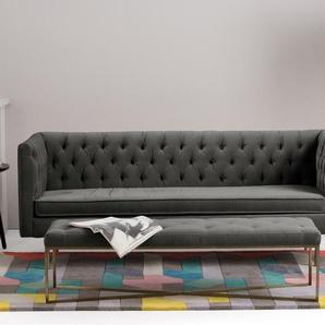 Julianne 3-Sitzer Sofa, Samt in Betongrau