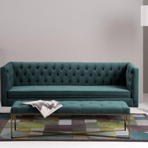 Julianne 3-Sitzer Sofa, Samt in Blaugruen