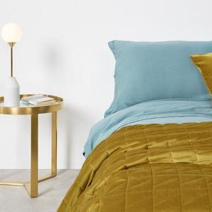 Julius Velvet Bedspread, 225x220cm, Antique Gold DE