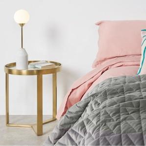 Julius Velvet Bedspread, 225x220cm, Silver Grey DE