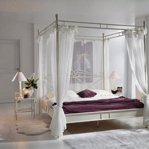 Junado® Himmelbett »Venezia«, im nostalgischen Flair für das klassische Schlafzimmer 180cm creme weiß