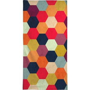Handtuch Colorful Beehive Pattern, Juniqe