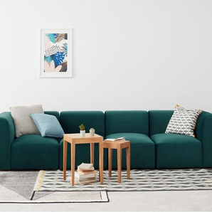 Juno Sofa-Modul, Samt in Meerblau