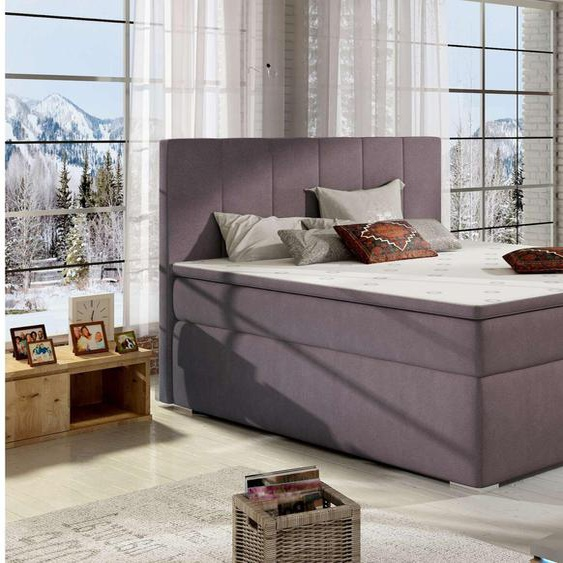 Jupiter Boxspringbett Violett 140x200 cm