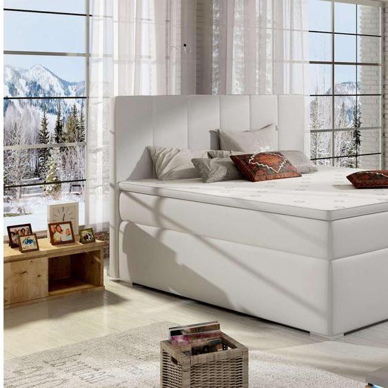 Jupiter Boxspringbett Weiß 180x200 cm
