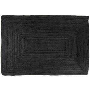 Jute Teppich schwarz 180 x 120 - Alex
